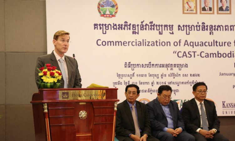 CDA Michael A. Newbill at CAST Cambodia Launch Event