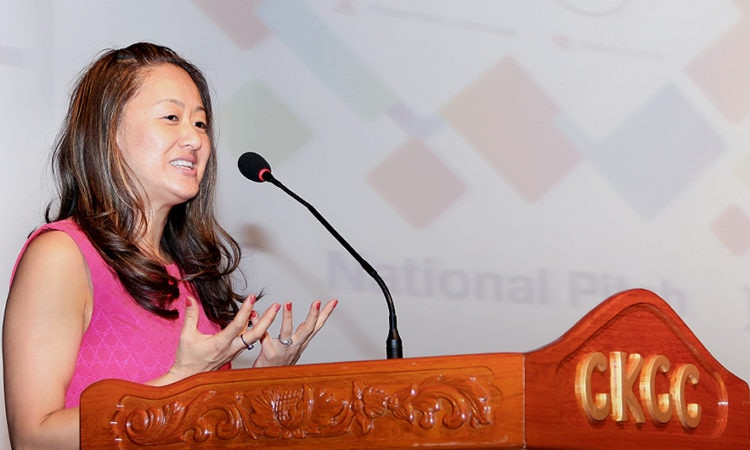 Deputy Chief of Mission Julie Chung at the Technovation National Pitch
