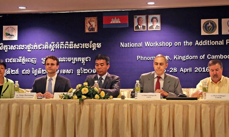 U.S. and Cambodian Nonproliferation Experts Hold Workshop on International Nuclear Safeguards