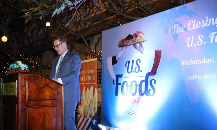 Chargé D' Affaires Michael A. Newbill at the Closing Ceremony of U.S. Food Week